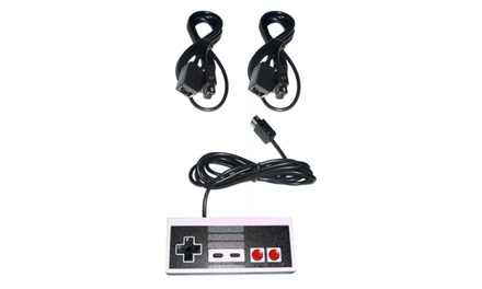 Controller and 2 Extension Cables for Nintendo NES Classic Mini Console