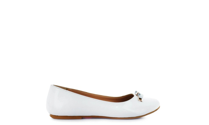 242d22775f342 Tropicana white patent leather flat   Groupon