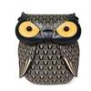 Small Mini Cute Owl Print Leather Satchel Shoulder Bag for Women