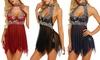 Women Lace Sleepwear Backless Lingerie Sexy Nightdress