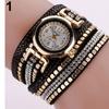 Faux Leather Quartz Wrist Watch