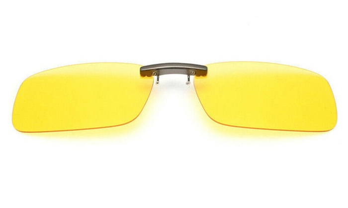 UV400 Clip On Flip-up Driving Glasses Sunglasses Polarized Day Night Vision Lens