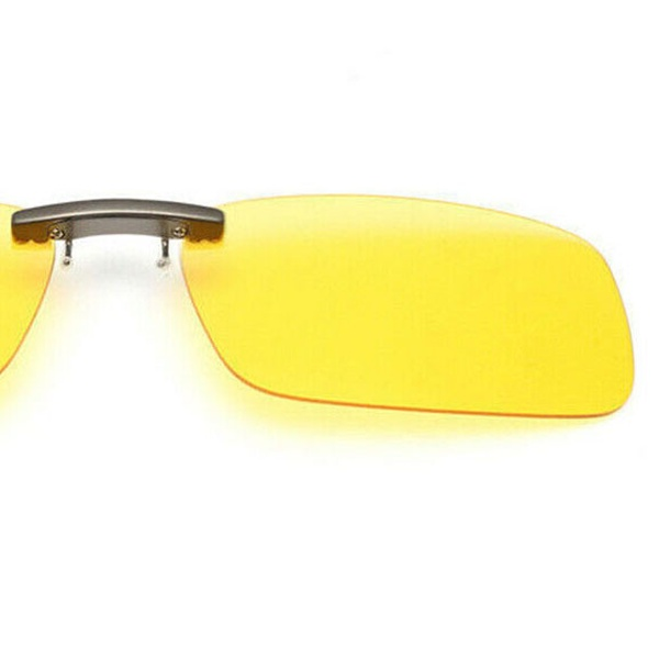 UV400 Day Night Vision Polarized Driving Clip-on Flip-up Lens Sunglasses