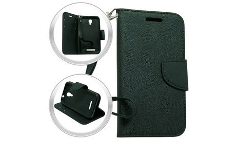 Alcatel Elevate 4037V Wallet Pouch Black 7806733b-7632-47c5-97f4-ed7fdb3d3442
