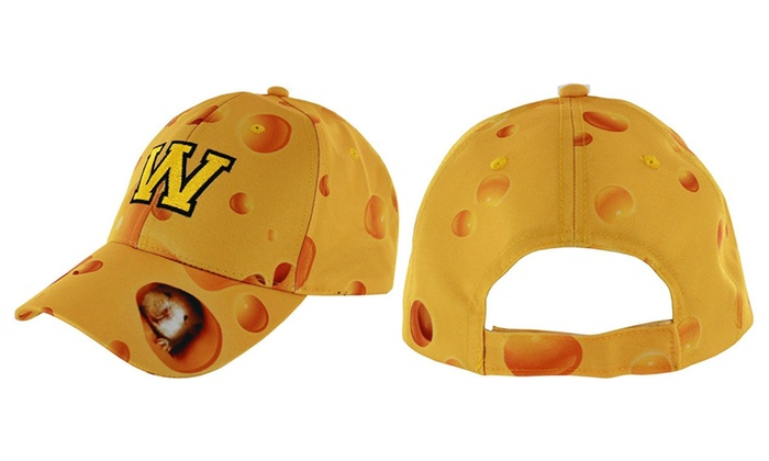 Wisconsin Cheese Baseball Cap Yellow Adjustable Hat Cap