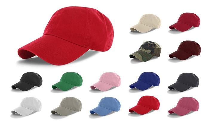 Classic Cotton Dad Hat Adjustable Plain Cap. Polo Style Low Profile ... 87e8e114c71