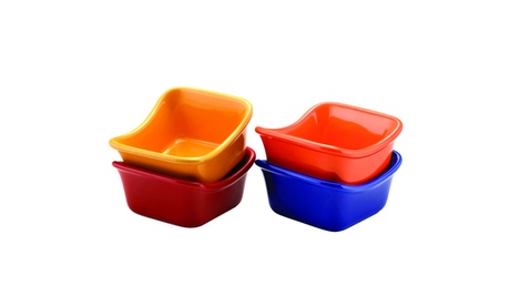 Rachael Ray Serveware Lil' Saucy Squares Dipping Cups Set ed489cea-75e2-46f3-8c90-ba6c886846c1