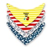 Set of 4 Baby Bandana Drool Bibs With Two Layers of Absorbent Cotton