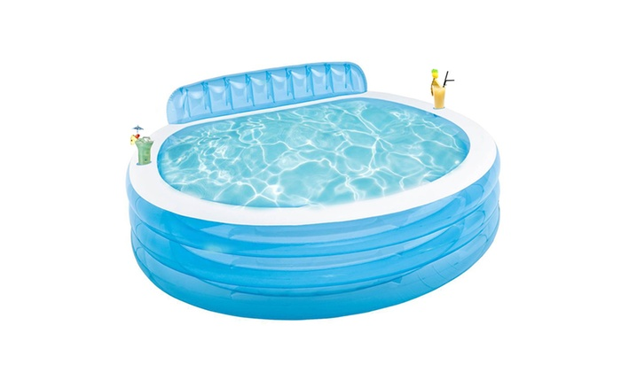 169 Gallons Water Capacity Round Swim Center Family Lounge Pool