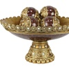 D'Lusso Designs Collection Home Decor Bowl With Four Orbs Set