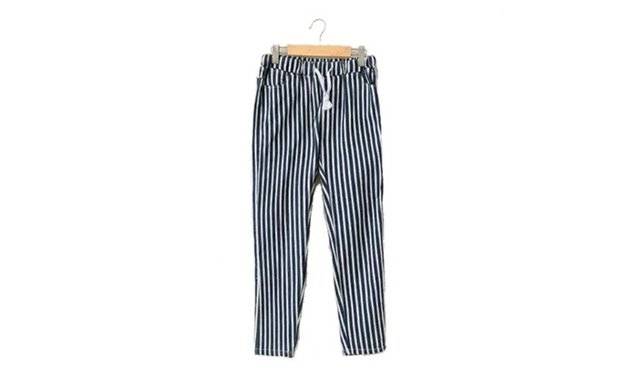 Women's Vintage Straight Striped PullOnStyle Jeans