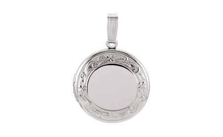 Sterlilng Silver Round Locket 02a6c724-2bd2-462a-bacf-4ac8ef7386dd