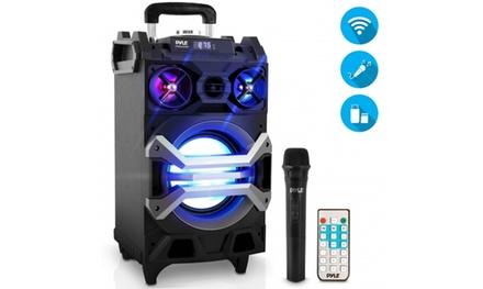 Pyle PWMA325BT 500 Watt Wireless Portable Bluetooth Karaoke Speaker System
