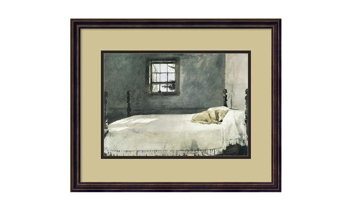 groupon goods andrew wyeth 39 master bedroom 39 framed art print 22x18 in