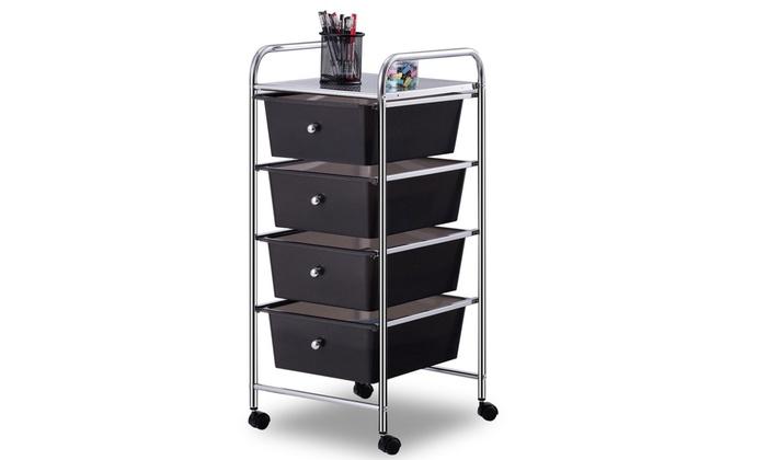 4 Drawers Metal Rolling Storage Cart Scrapbook Supply ...