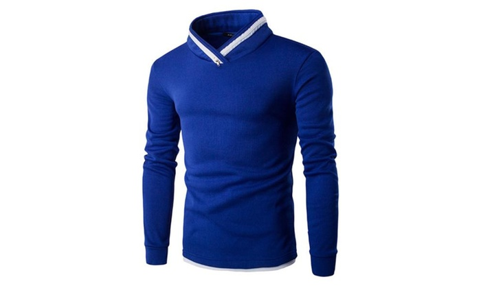 Men's Simple Long Sleeve Fashion Regular Fit Sweatshirt