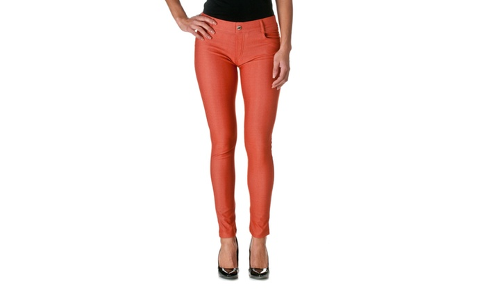 Riverberry Womens Herringbone Solid Fashion Jeggings 827JN301-2