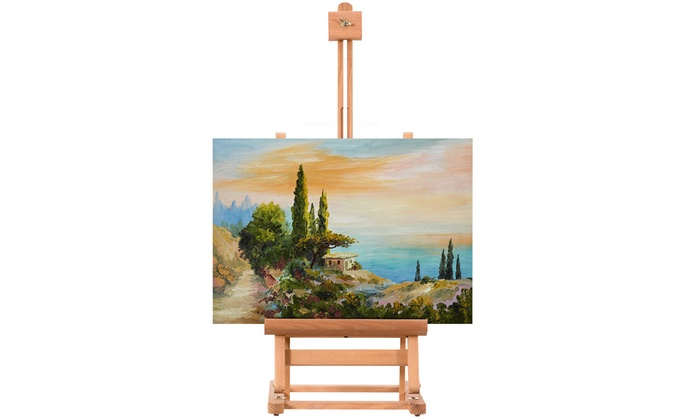Up To 77% Off on Portable Wood Tabletop Easel     | Groupon