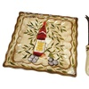 D'Lusso Designs Tuscan Harvest Design Ceramic Cheese Board W/ Knife