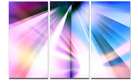 Rays of Speed Blue Abstract Digital Art Metal Wall Art 36x28 3 Panels f16bba97-f4a7-4a98-a37f-0d58a2f47277