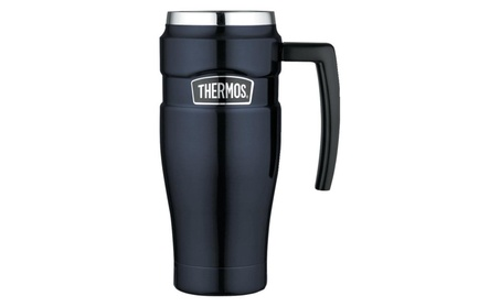 Thermos Stainless King 16 Ounce Travel Mug with Handle, Midnight Blue a930c0f9-54d0-4df6-a34e-cea9a89dc5b9