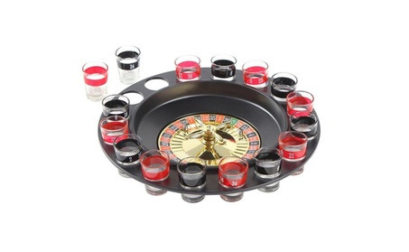 Shot Glass Roulette Drinking Game Set 16 Glasses Party Bar Game 3980508c-0265-4640-95bf-a9cb50c73bbd