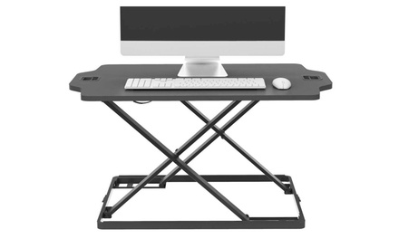 Ergonomic Height Adjustable Sit Stand Desk Riser Office Computer Top Desk