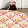 LR Home Whimsical Floral Bloom Cream / Pink Rectangle Kids Indoor Area Rug