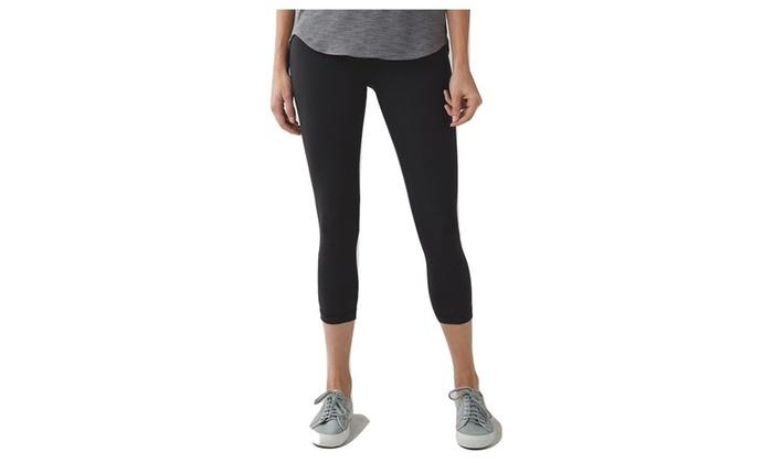 6f71a3eb35a05 Lululemon Wunder Under Crop III Full On Luon Yoga Pants Black | Groupon