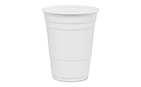 Solo Cups DCCP16W Party Plastic Cold Drink Cups, White 5b0a49e9-96b2-4065-b44e-3f1b713f76c4