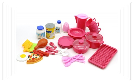 Cool Cooking Food Playset Plastic 40PCS Play Toy Set Kids Toddler 104ca723-b5b6-4c32-802e-b2b0b4db88ca
