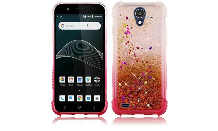 For ATT AXIA (QS5509A) Quicksand Glitter Hard TPU Case | Groupon
