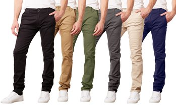Men's Cotton Stretch Slim-Fit Classic Chinos (Sizes, 30-42)