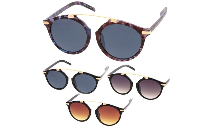Retro Fashion Dapper Frame Brow Bar Women Sunglasses Model 71