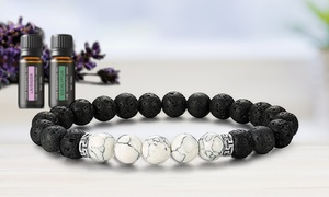 Natural Agate Diffuser Bracelet with Optional Essential Oils