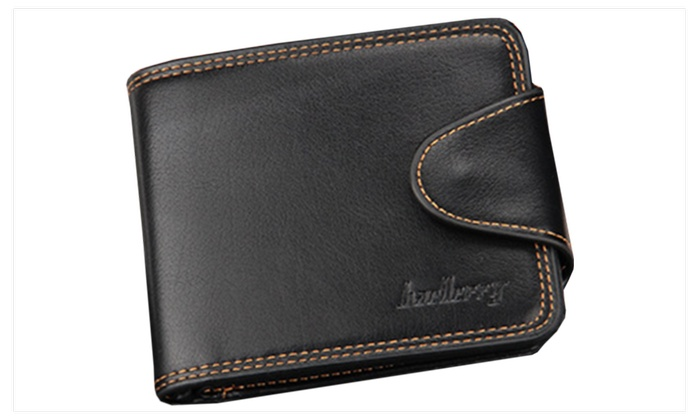 Men Cross Section Closure Button Wallet - JPMW926-JPMW927