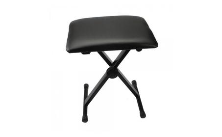 Adjustable Folding Piano Bench Stool Seat Black 10a00549-01da-44f9-80b3-a1ea2522feed