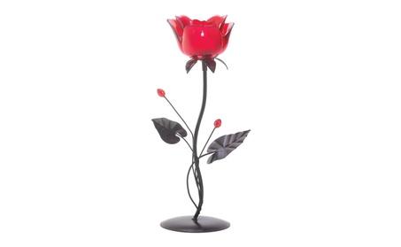 Romantic Glass Red Rose Votive Candle Holder d91e1da9-b6eb-4ccb-a3c7-0bfa11645ac0