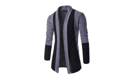 Mens Autumn Warm Shawl Collar Solid Color Long Sleeve Cardigan Sweater 9c831837-8f01-4dc9-965f-b2cd0f4dfa0f