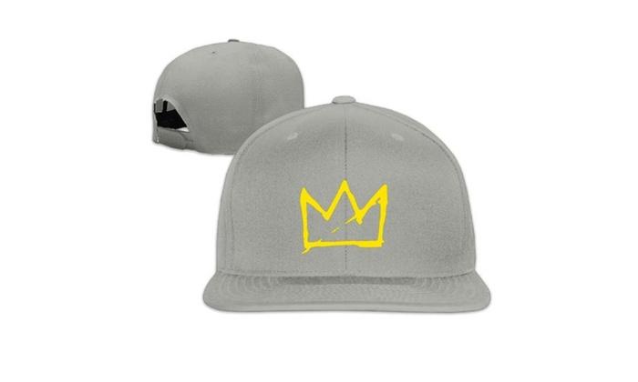 136f13562bfdf Basquiat Crown Snapback Baseball cap hip hop cap Black (8 colors ...