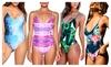 Sexy One Piece Swimsuit Deep V Strap Swimwear Hollow Bandage Bodysuit