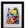 Dean Russo 'Smokey' Matted Black Framed Art