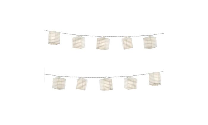 Square Paper Lantern String Lights | Groupon