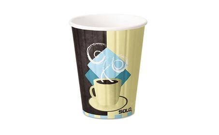 Solo Cup IC12J7534CT Duo Shield Hot Insulated 12 oz. Paper Cups, Beige 33ce45be-1778-478d-b967-90ec5ebc0ff5