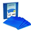 """Click n' Play Blue Building Brick Baseplates - 5""""x 5"""" - (Pack of 4) Tight Fit"""