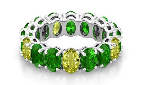 Oval Cut Emerald and Peridot Band 99fe4adf-358e-4a28-a043-ab2a1b78d181