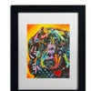 Dean Russo 'Brilliant Dachshund' Matted Black Framed Art
