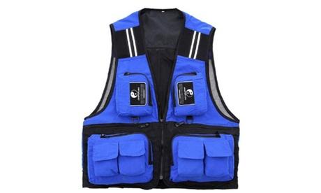 Mens Multi-Pocket Outdoor Waistcoat Jacket