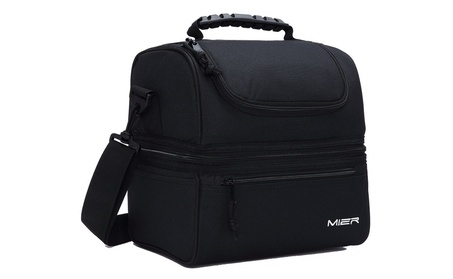 MIER Adult Lunch Box Insulated Lunch Bag Large Cooler Tote Bag 7675492c-a7e6-4671-86e9-fb64970162c7