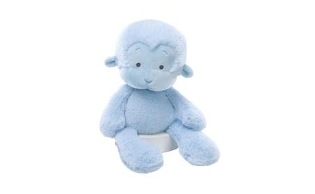 "Gund Baby Meme Monkey 14"" Small Plush - Blue/Pink"